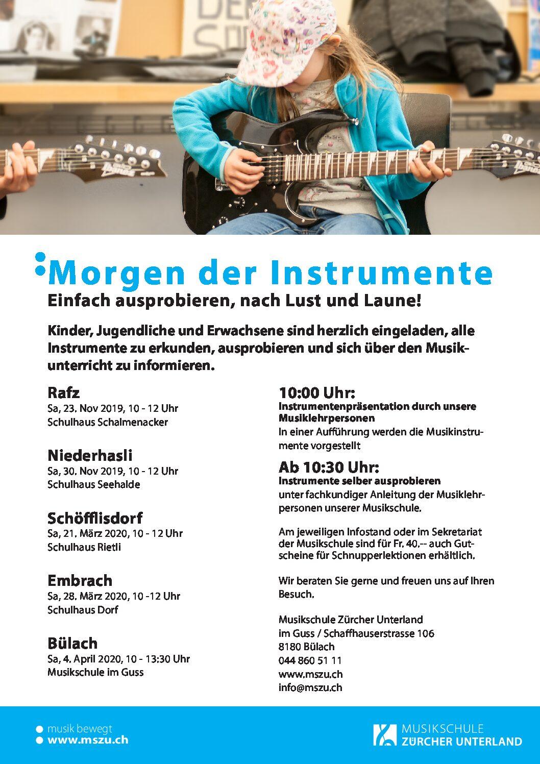 Morgen der Instrumente