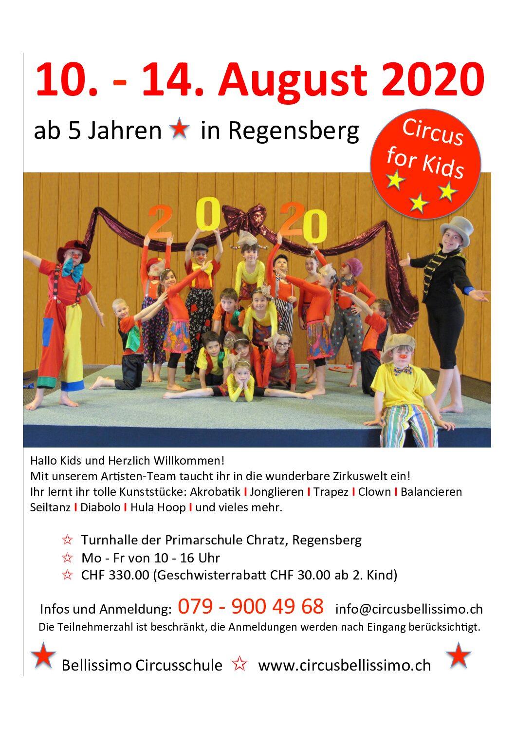 Zirkuswoche in den Sommerferien